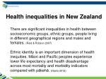 health inequalities in new zealand