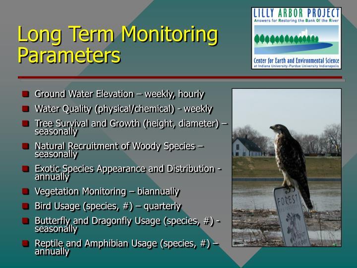 Long Term Monitoring Parameters