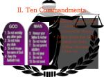 ii ten commandments