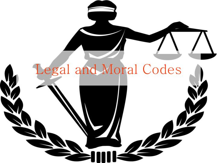 legal and moral codes n.