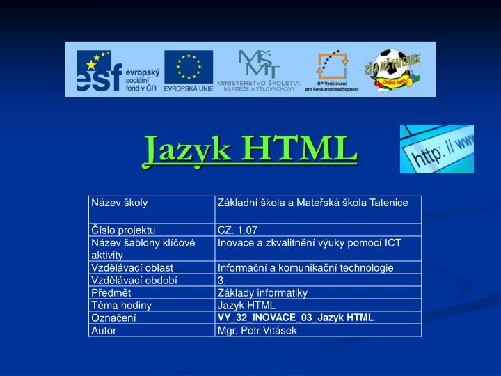 jazyk html n.