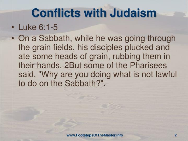 Conflicts with judaism
