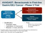 avagast bevacizumab in first line gastric gej cancer phase 3 trial