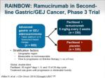 rainbow ramucirumab in second line gastric gej cancer phase 3 trial