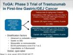 toga phase 3 trial of trastuzumab in first line gastric gej cancer