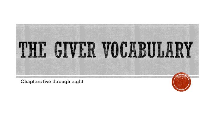 the g ver vocabulary n.