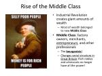 rise of the middle class
