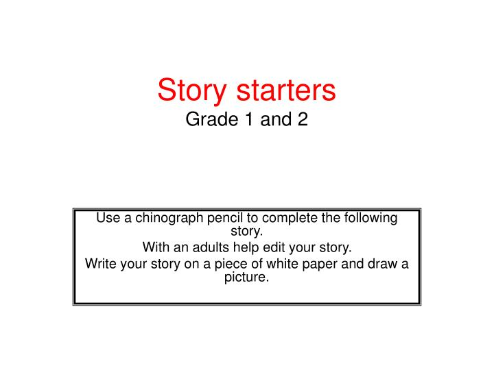 story starters grade 1 and 2 n.