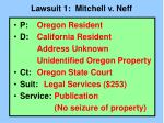 lawsuit 1 mitchell v neff