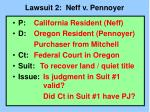lawsuit 2 neff v pennoyer