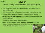 myojin from survey and interviews with participants