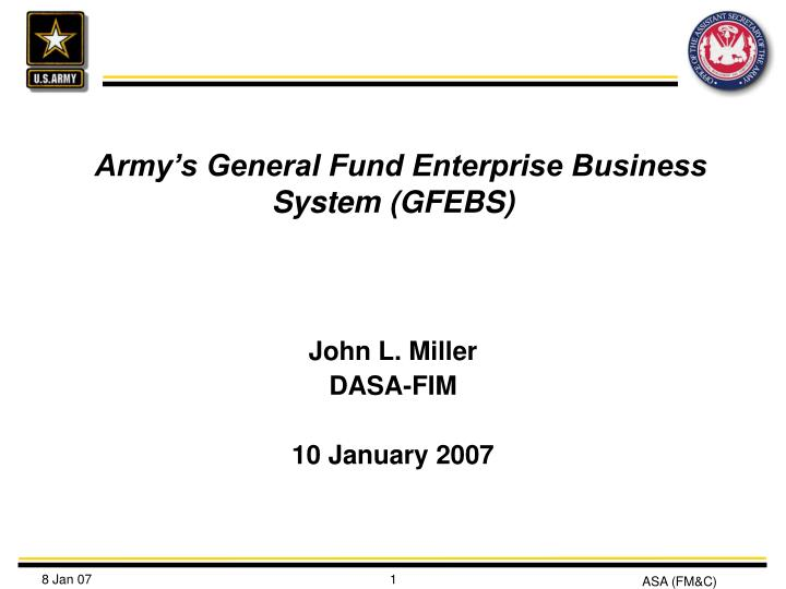 army s general fund enterprise business system gfebs n.