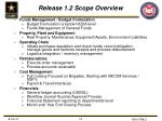 release 1 2 scope overview