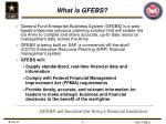 what is gfebs