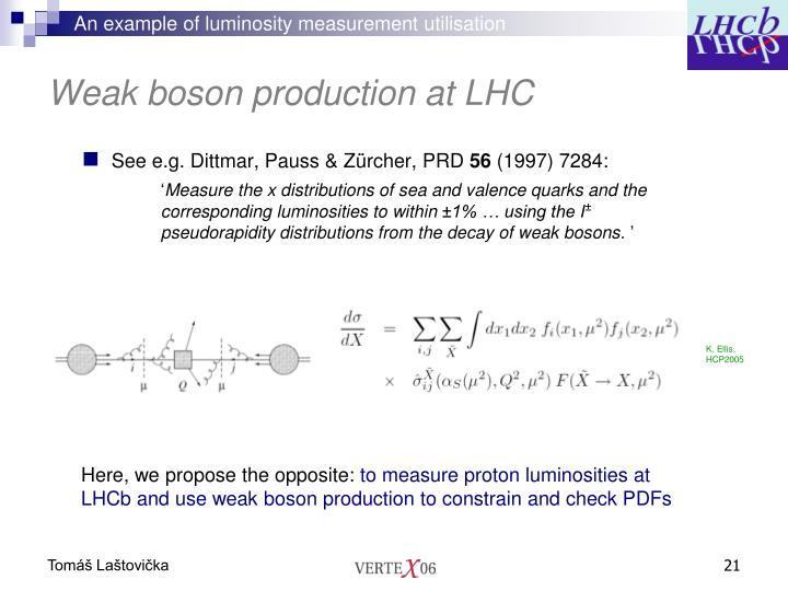 An example of luminosity measurement utilisation