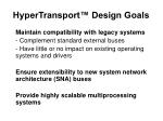 hypertransport design goals1