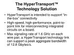the hypertransport technology solution