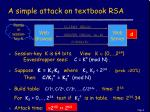 a simple attack on textbook rsa