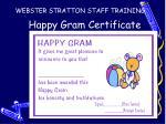 happy gram certificate
