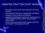 webster stratton staff training