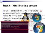 step 3 multibooting process