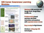 gis career awareness learning modules