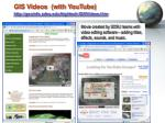 gis videos with youtube http geoinfo sdsu edu hightech gisvideos htm