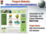 project website http geoinfo sdsu edu hightech