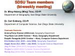 sdsu team members bi weekly meeting