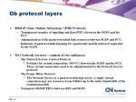 gb protocol layers