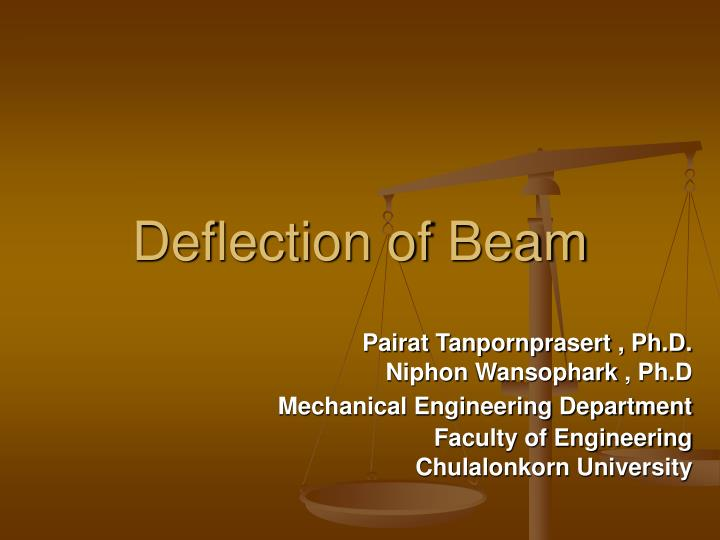 deflection of beam n.