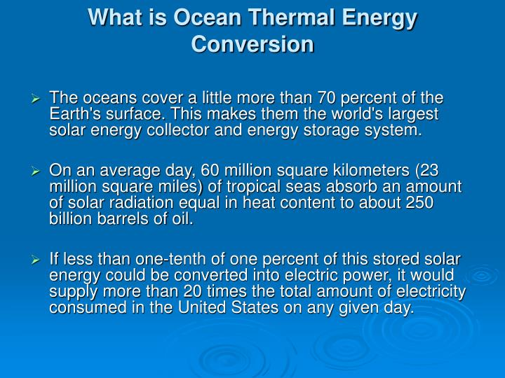 what is ocean thermal energy conversion n.