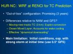 hur nc wrf at renci for tc prediction1