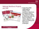 national workforce projects and isip