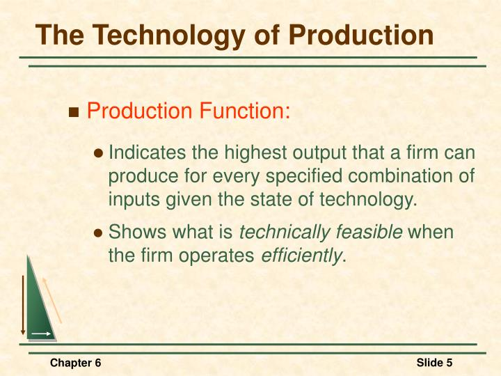 The Technology of Production