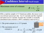 confidence interval small sample