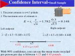 confidence interval small sample1