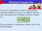 minimum sample size
