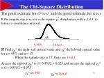 the chi square distribution