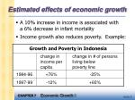 estimated effects of economic growth