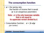 the consumption function