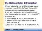the golden rule introduction
