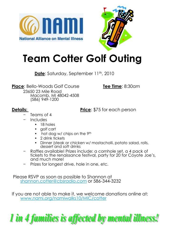 team cotter golf outing n.