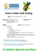 team cotter golf outing