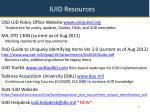 iuid resources
