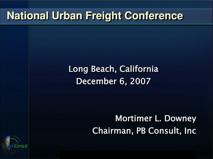 national urban freight conference n.