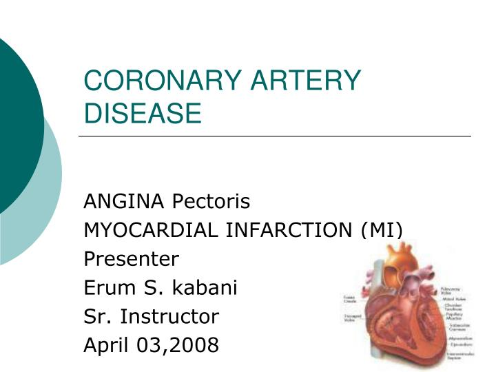 coronary artery disease n.