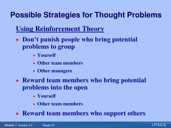 Possible Strategies for Thought Problems