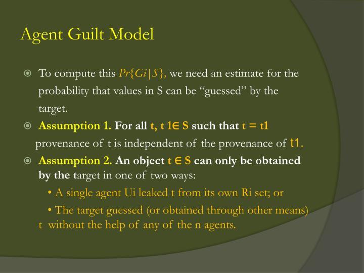 Agent Guilt Model