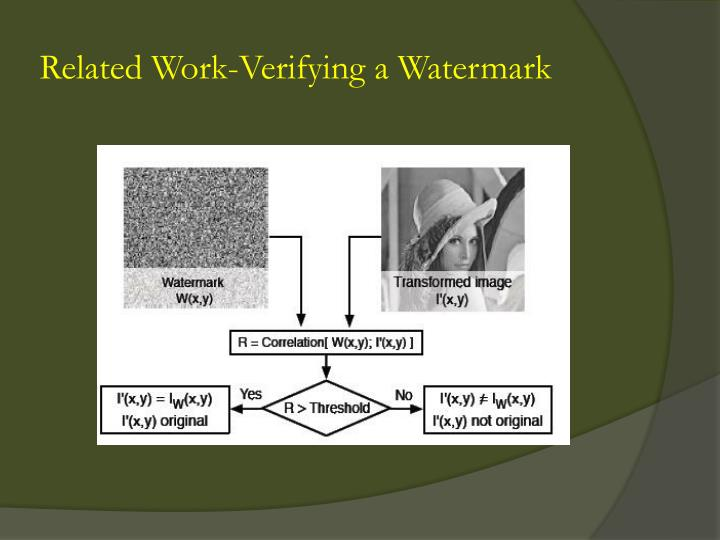 Related Work-Verifying a Watermark